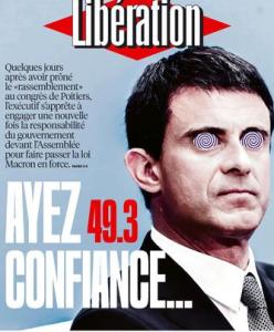 Une de Libération du 16 juin