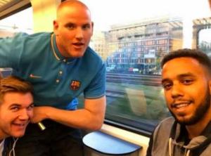 Spencer Stone et ses amis dans le Thalys